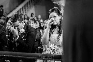 Boda en Alba de Tormes, Elena y Jose emocionados tras unas palabras de su hermana