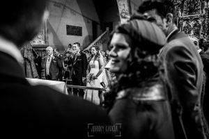 Boda en Alba de Tormes, Elena y Jose, emocionados durante la ceremonia