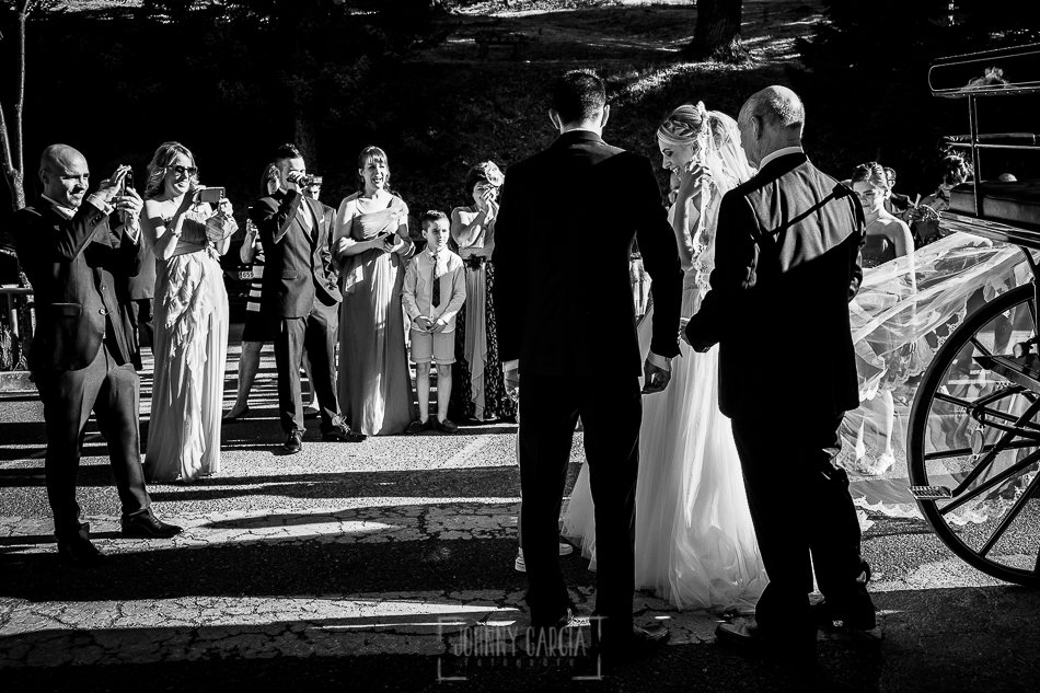Boda en Béjar, post-boda en Los Barruecos, Lorena y Raúl, Lorena llega al Santuario de el Castañar