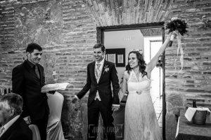 Boda en Hervás, Silvia y Roberto entrando al restaurante