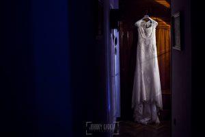 Boda en Salamanca, Elia + Nacho, el vestdo de Elia colgado