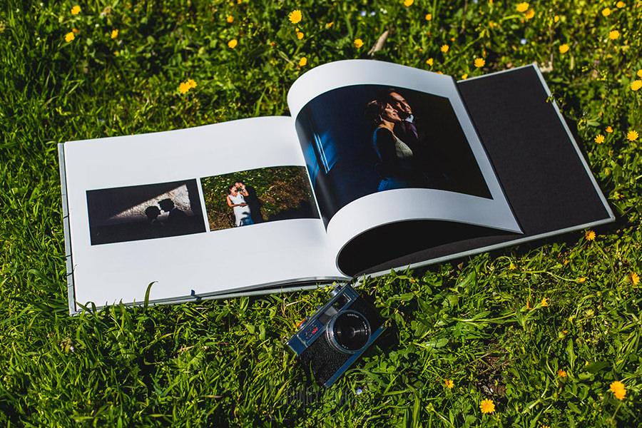 Ejemplo de libro de boda realizado por Johnny García. Libro abierto