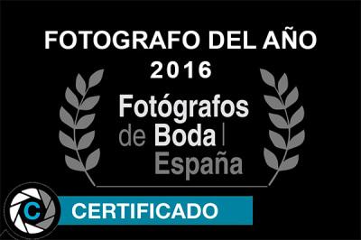 Mejor fotógrafo de bodas del año 2016 en Fotógrafos de Boda en España