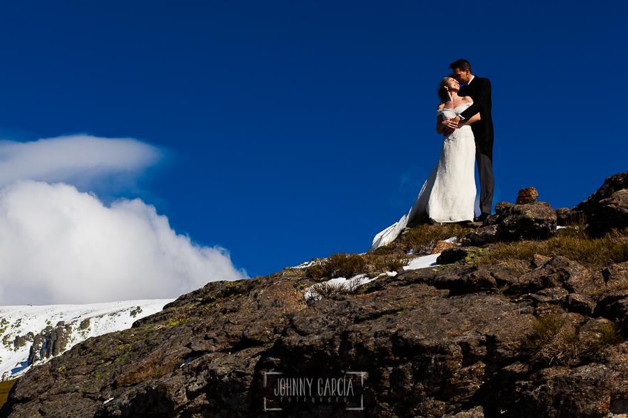 Boda en Béjar de Cristina y Santiago realizada por Johnny Garcia, Cristina y Santiago en lo alto de la sierra de Béjar nevada