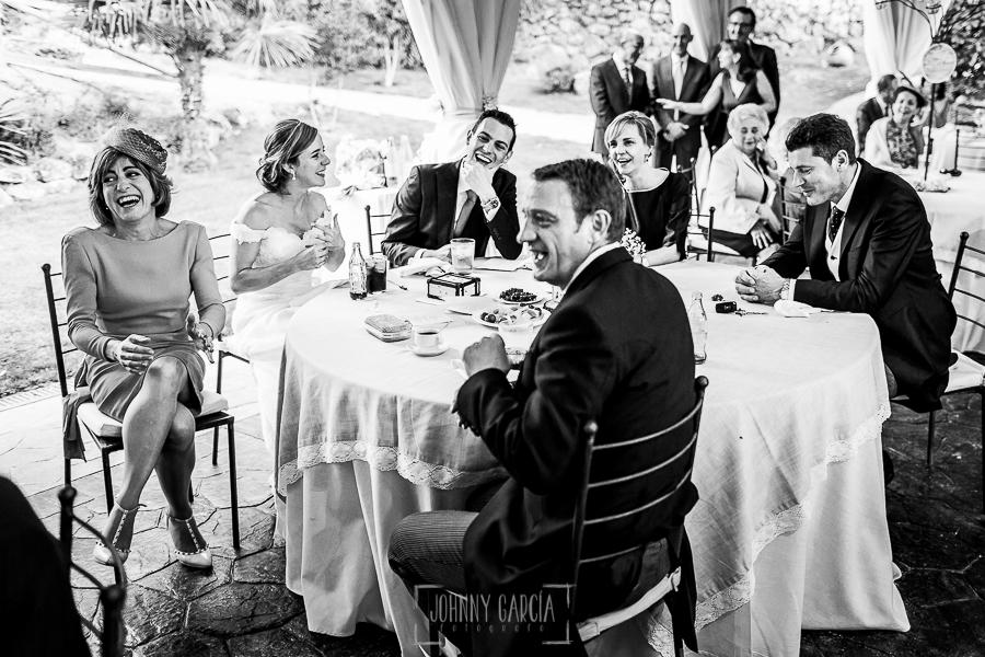 Boda en Béjar de Cristina y Santiago realizada por Johnny Garcia, la mesa presidencial, con la pareja y sus padres