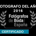 Mejor fotógrafo de bodas del año 2016, concedico por fotógrafos de boda en España a Johnny Garcia