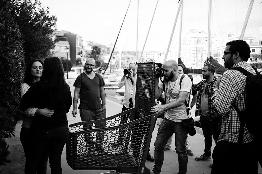 Foto de Emilio a Johnny García durante el shooting de Conecta, encuentro nacional de fotógrafos de boda en España, Valencia