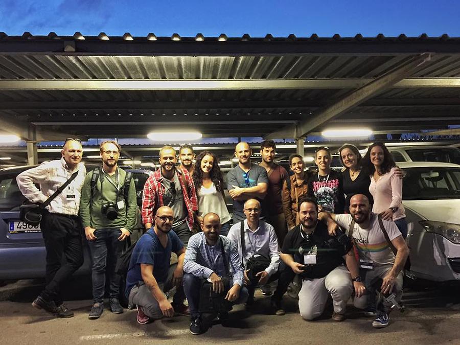 Foto de grupo del shooting de Johnny García durante la ponencia de Conecta, encuentro nacional de fotógrafos de boda en España, Valencia