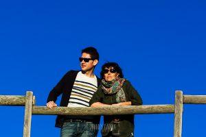 Fotografía de la pre boda en Tornavacas de Mercedes y Fran, realizada por Johnny García, fotógrafo de bodas en Extremadura, un retrato de la pareja