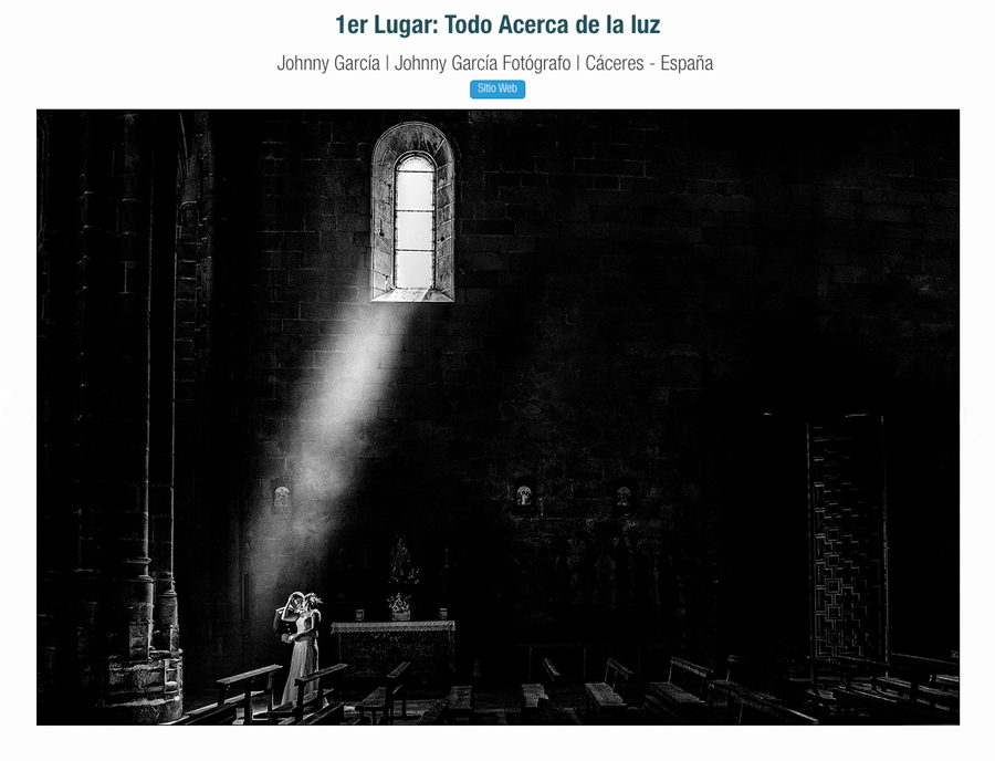 Fotografía premiada en el concurso fall 2016 de la ispwp de Estados Unidos realizada por Johnny García, fotógrafo del año 2016 en Avila