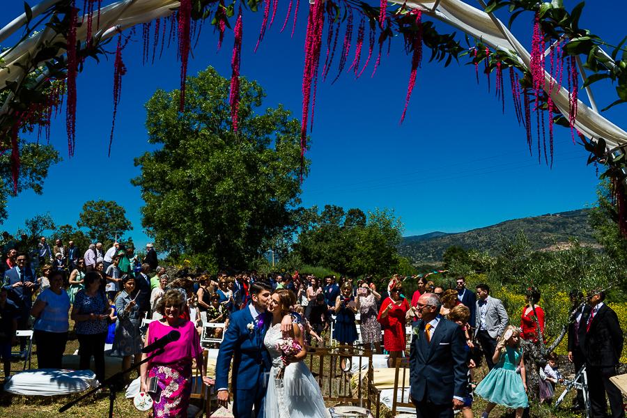 Boda en Hervás de Tamara y Sergio realizada por Johnny García, fotógrafo bodas Extremadura, una vista general del lugar de la ceremonia de la boda