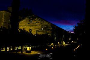Boda en la Hacienda Zorita de Salamanca de Emma y Michael realizada por Johnny García, wedding photographers in Spain, vista nocturna de la Hacienda Zorita