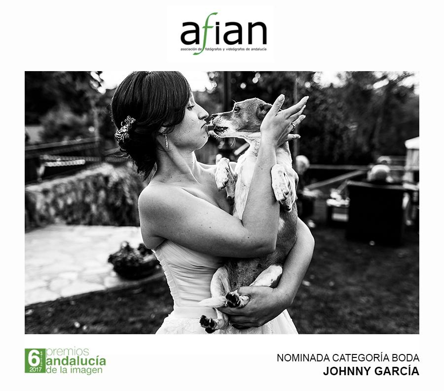 Fotografia de boda nominada a los premios andalucía de la imagen en la categoría de boda realizada por Johnny Garcia
