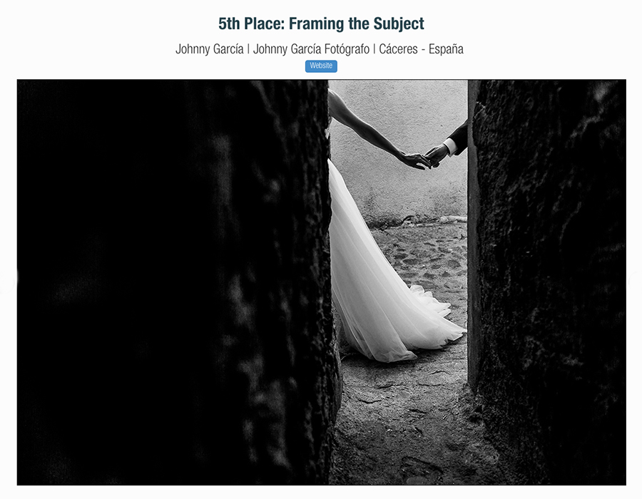 Fotografia premiada en los premios primavera 2017 en la ISPWP realizada por Johnny Garcia en Hervás
