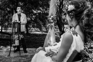 Boda en Hervás y postboda en Trevejo de Sofía y Charly realizada por Johnny García, fotógrafo de bodas en Extremadura, el padre de Sofía les dedica unas palabras
