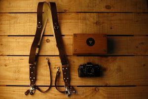 Correas Genuine Strap para cámaras de fotos probadas por Johnny García, fotógrafo de bodas en Extremadura, la correa o arnes completo