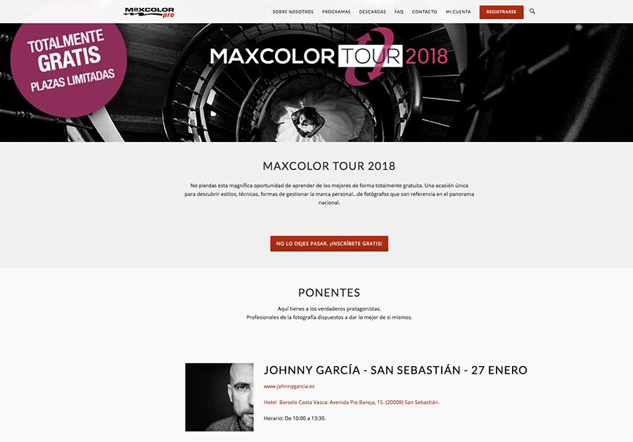 Johnny García será ponente en la Maxcolor Tour 2018 en la ciudad de San Sebastián