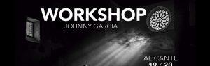 Cartel del workshop de Johnny García, fotógrafo de bodas, en Alicante este mes de febrero, foto destacada