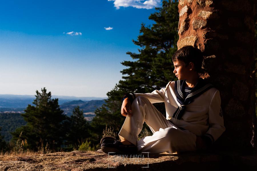 Fotos de comunión, comuniones Johnny García, fotógrafo en Extremadura, retrato a la puesta de sol