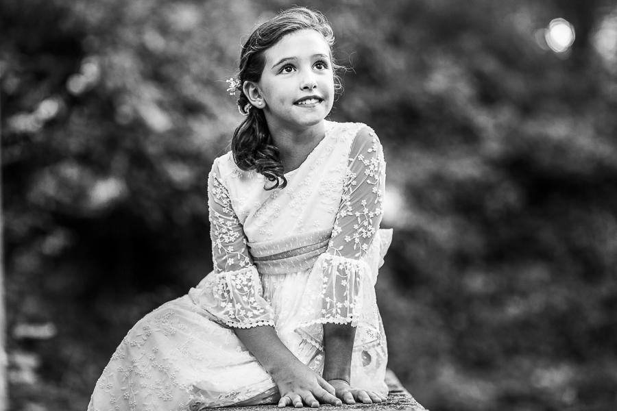 Fotos de comunión, comuniones Johnny García, fotógrafo en Extremadura, retrato de una chica de comunión
