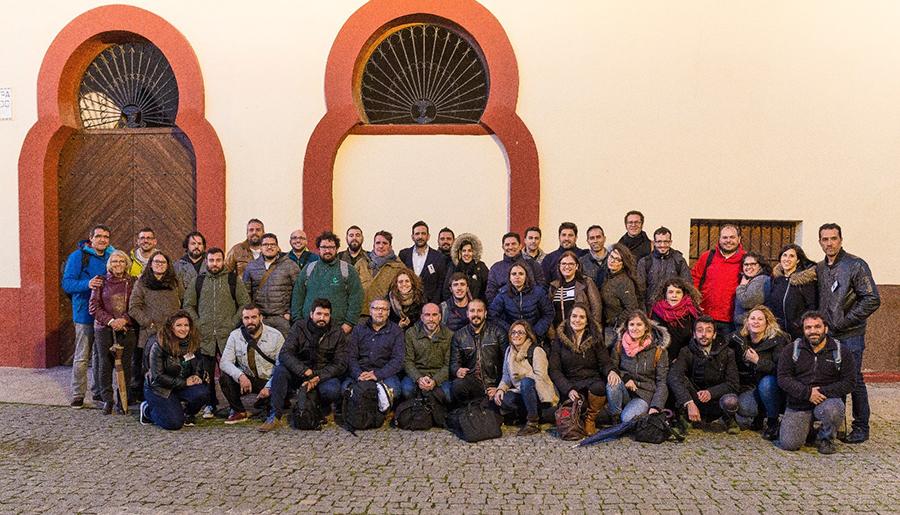 fotografía de grupo del I Fotoencuentros de Almendralejo
