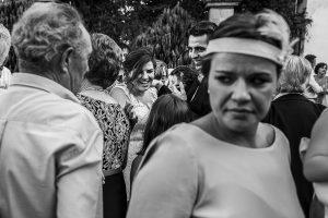 Boda en el Torreón de Veredillas de María e Iván, fotos de boda realizadas por el fotógrafo de bodas en Cáceres Johnny García, momento de dar la enhorabuena