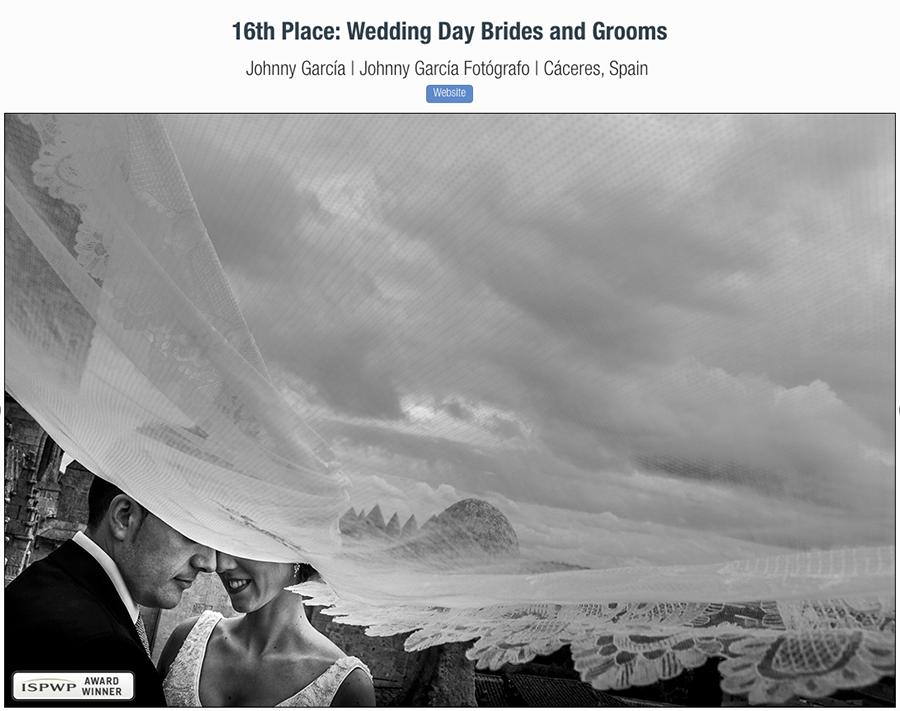 Fotografía premiada en Spring 2018 Contest del concurso de la ISPWP realizada por el fotógrafo de bodas Johnny García en Salamanca