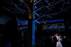 Boda en Arroyomolinos de la Vera de Tamara y David realizada por el fotógrafo de bodas en Cáceres Johnny García, una vista de la zona del baile nupcial