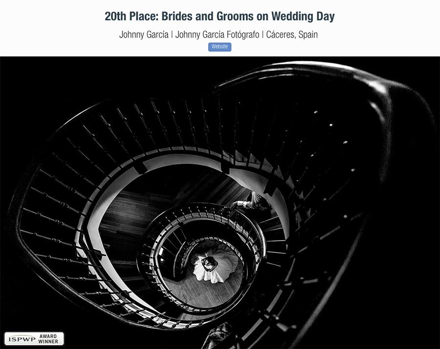 Fotografía premiada en el Fall 2018 Contest de la ISPWP, realizada por el fotógrafo de bodas en Béjar Johnny García.