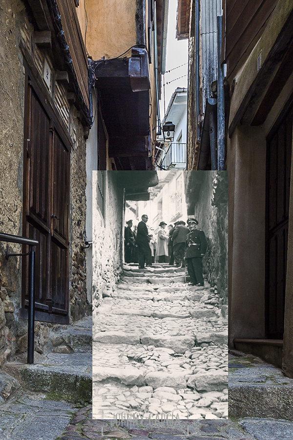 Fotomontaje de la calle La Cuestecilla, relaizado por Johnny García