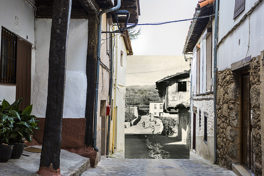 Fotomontaje de calle del Vado de Hervás realizado por Johnny García.