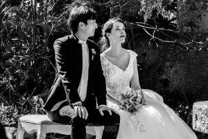 Boda en el Castillo de las Seguras de Cáceres de Marta y Charley realizada por Johnny García, fotógrafo de bodas en Cáceres. Los novios.