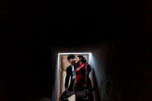 Boda en el Castillo de las Seguras de Cáceres de Marta y Charley realizada por Johnny García, fotógrafo de bodas en Cáceres. retrato de pareja.