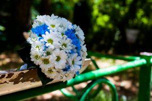 Los mejores ramos de novia, ideas para tu ramo de novia, Johnny Garcia fotógrafos, ramo de novia de gerberas azules y blancas.