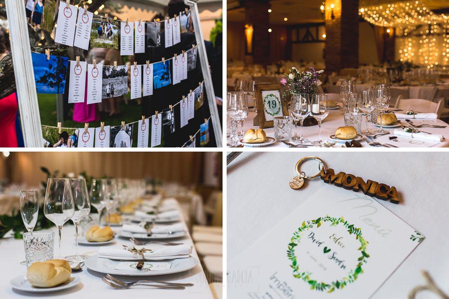 Boda hotel Ruta Imperial de Sandra y David realizada por el fotógrafo de bodas en Jarandilla de la Vera Johnny García, detalles del banquete