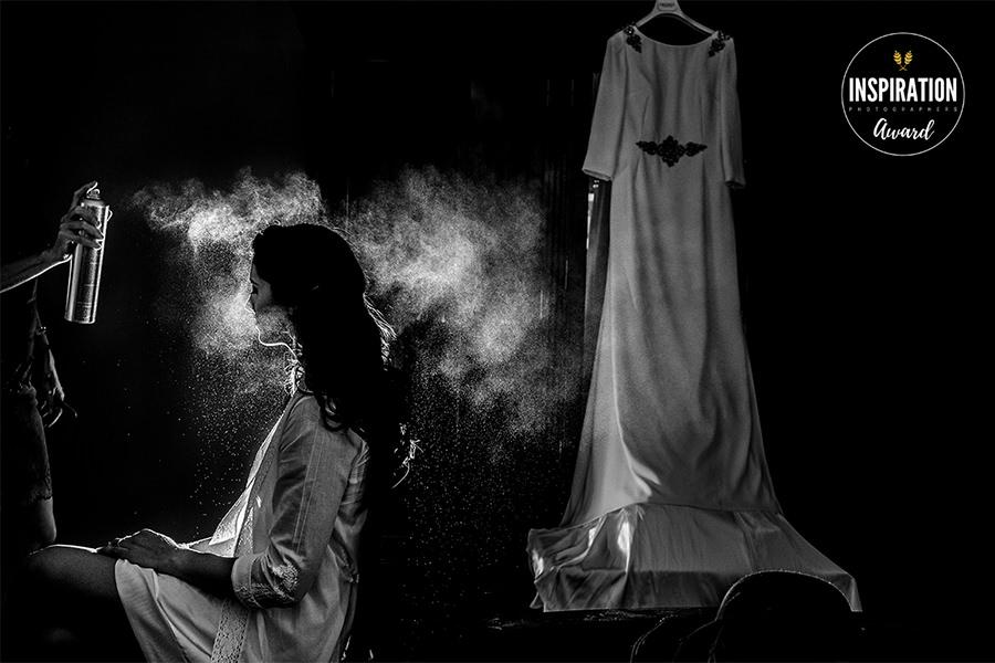 Fotografía de boda premiada en Inspiration Photographer en su collection 26 realizada por Johnny García en una boda en Plasencia
