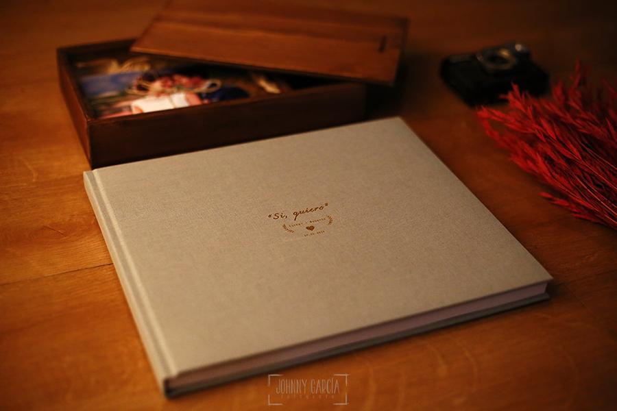 Libro de boda, album de boda en lino.