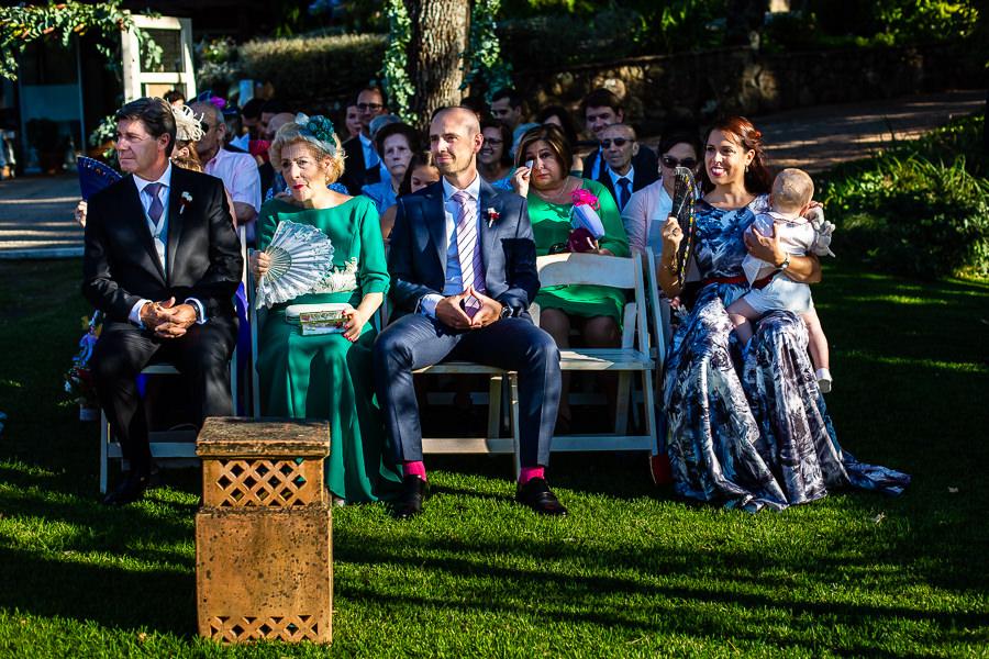 Bodas Jarandilla de la Vera, boda de Clara y David en el Hotel Ruta Imperial, fotos realizadas por Johnny García, fotógrafo de bodas en Cáceres. La familia de la novia.