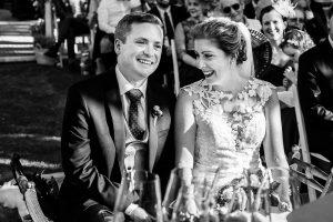 Bodas Jarandilla de la Vera, boda de Clara y David en el Hotel Ruta Imperial, fotos realizadas por Johnny García, fotógrafo de bodas en Cáceres. El novio se emociona.