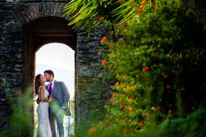 Boda en Aldeanueva del Camino de Sonia y Samuel realizada por el fotógrafo de bodas Johnny García. Una panorámica de Granadilla.