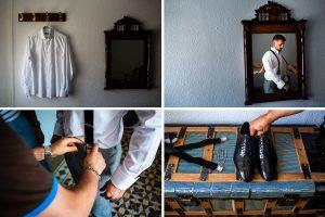 Boda en Aldeanueva del Camino de Sonia y Samuel realizada por el fotógrafo de bodas Johnny García. Varias fotos de detalle de la casa del novio.