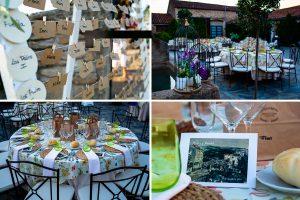Boda en Aldeanueva del Camino de Sonia y Samuel realizada por el fotógrafo de bodas Johnny García. Detalles de decoración del Torreón de Veredillas.
