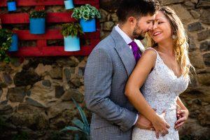 Boda en Aldeanueva del Camino de Sonia y Samuel realizada por el fotógrafo de bodas Johnny García. Los novios.