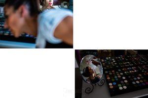 Boda en el Rincón de Castilla de Isa y Juan, realizada por el fotógrafo de bodas en Béjar Johnny García, detalle del maquillaje de Isa.