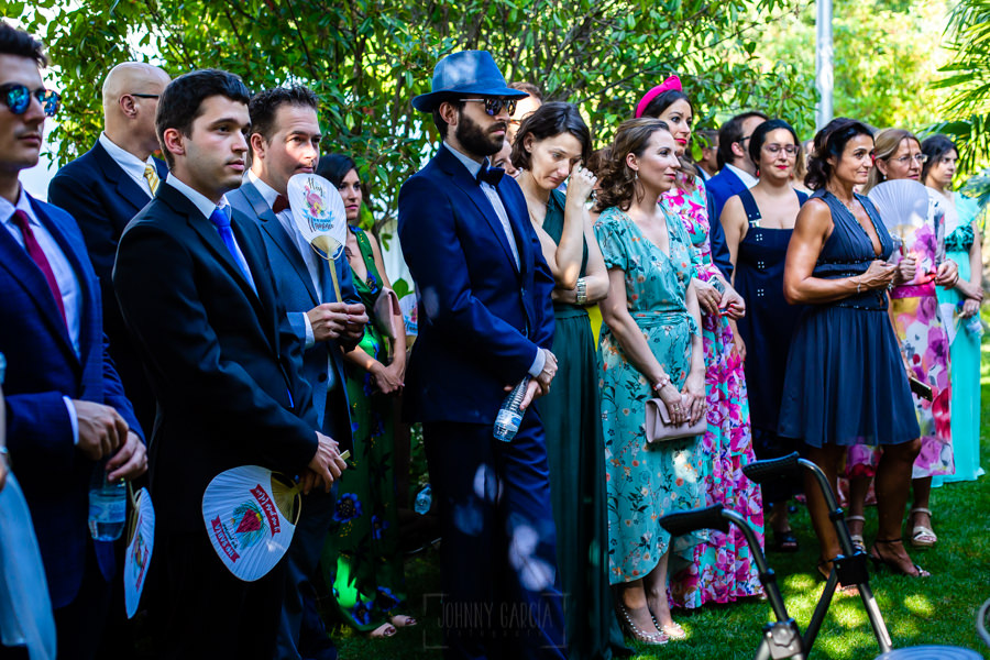 Boda en el Rincón de Castilla de Isa y Juan, realizada por el fotógrafo de bodas en Béjar Johnny García, amigos de los novios en la ceremonia.