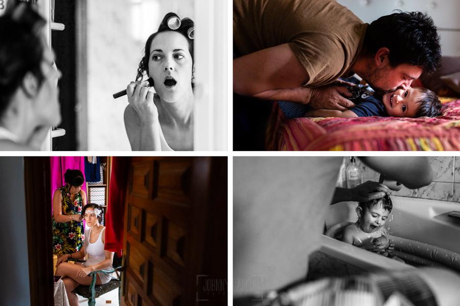 Boda en Segura de Toro de Araceli y César, captada fotográficamente por elfotógrafo de bodas en Cáceres Johnny García, varios momentos de los preparativos.