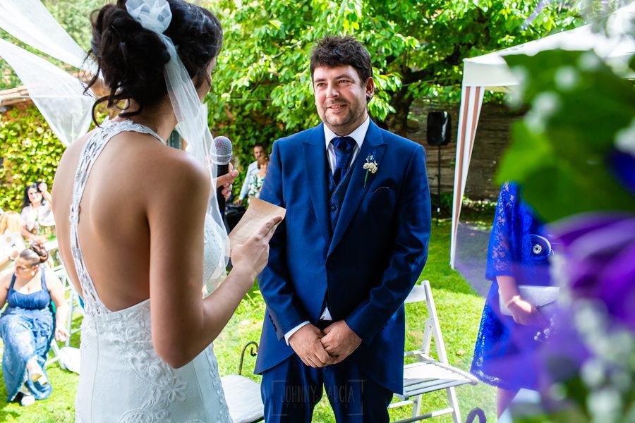 Boda en Segura de Toro de Araceli y César, captada fotográficamente por elfotógrafo de bodas en Cáceres Johnny García, Araceli le dedica unas palabras a César.