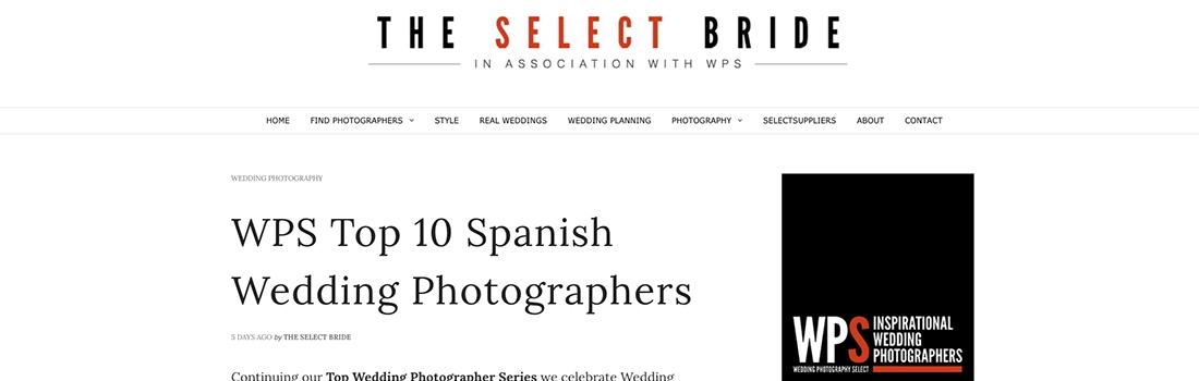 Top 5 fotógrafos de boda en España de la WPS